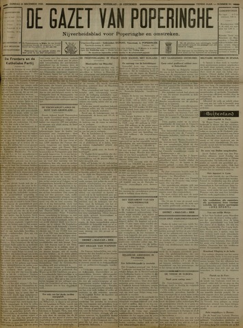 De Gazet van Poperinghe  (1921-1940) 1930-12-21