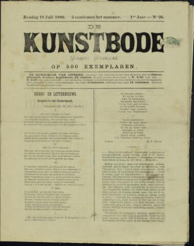 De Kunstbode (1880 - 1883) 1880-07-18