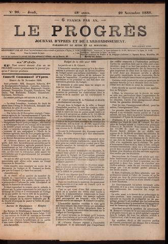 Le Progrès (1841-1914) 1888-11-29