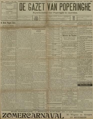 De Gazet van Poperinghe  (1921-1940) 1930-06-01