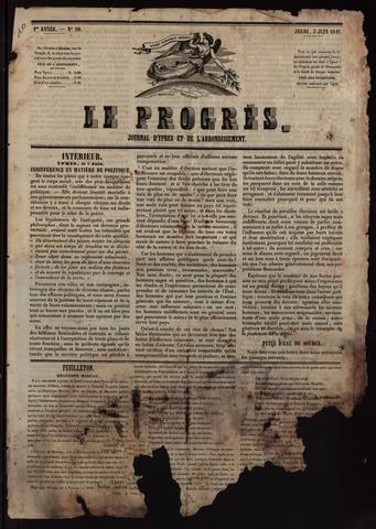 Le Progrès (1841-1914) 1841-06-03