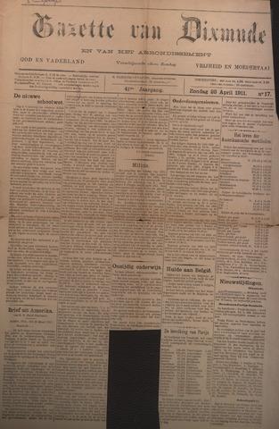 Gazette van Dixmude 1911-04-23