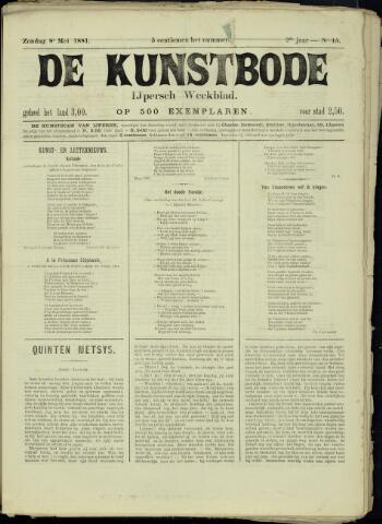 De Kunstbode (1880 - 1883) 1881-05-08