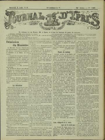 Journal d'Ypres (1874 - 1913) 1899-08-02