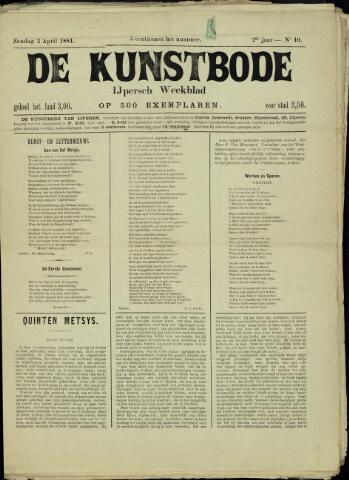 De Kunstbode (1880 - 1883) 1881-04-03