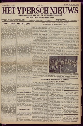 Het Ypersch nieuws (1929-1971) 1965-06-26