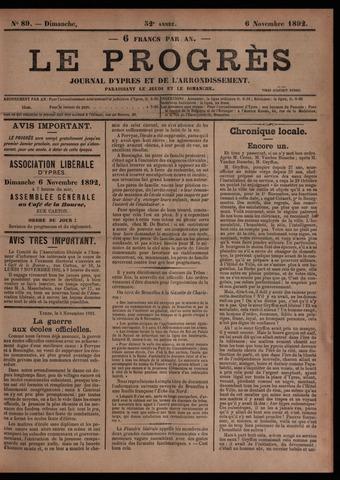 Le Progrès (1841-1914) 1892-11-06