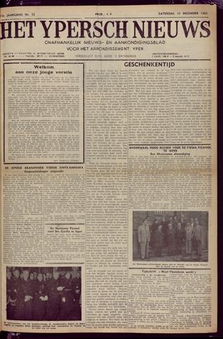 Het Ypersch nieuws (1929-1971) 1960-12-10