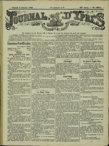 Journal d'Ypres (1874 - 1913) 1900-01-06