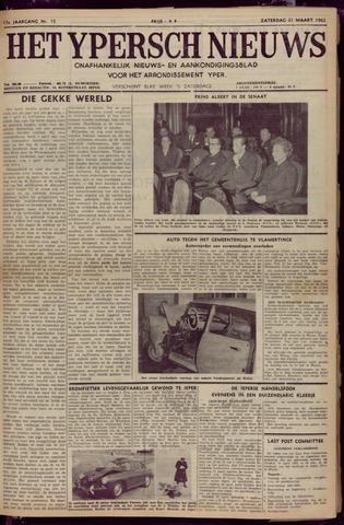 Het Ypersch nieuws (1929-1971) 1962-03-31