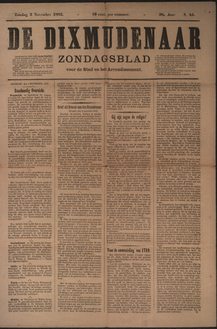 De Dixmudenaar 1882-11-05