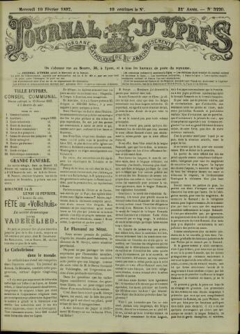 Journal d'Ypres (1874 - 1913) 1897-02-10