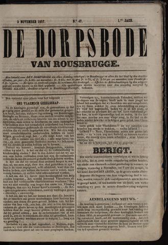 De Dorpsbode van Rousbrugge (1856-1857 en 1860-1862) 1857-11-03