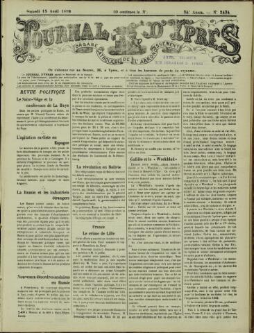 Journal d'Ypres (1874 - 1913) 1899-04-15