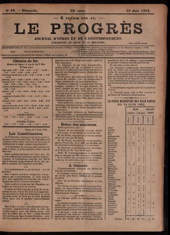 Le Progrès (1841-1914) 1892-06-19