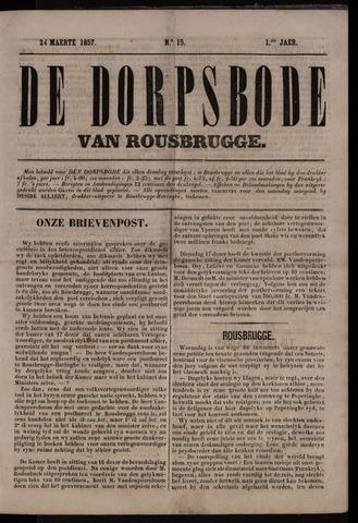 De Dorpsbode van Rousbrugge (1856-1857 en 1860-1862) 1857-03-24