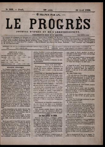 Le Progrès (1841-1914) 1880-04-22