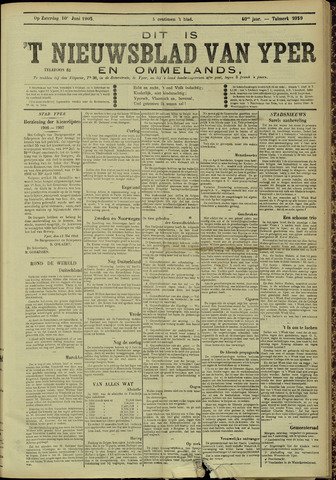 Nieuwsblad van Yperen en van het Arrondissement (1872 - 1912) 1905-06-04