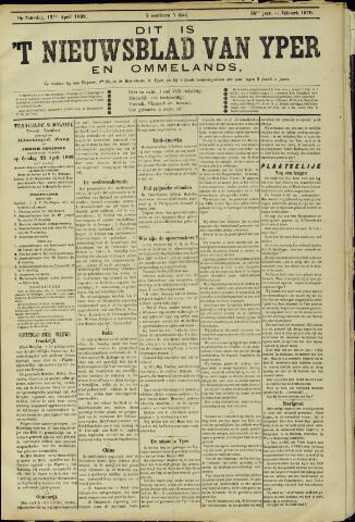 Nieuwsblad van Yperen en van het Arrondissement (1872 - 1912) 1899-04-15