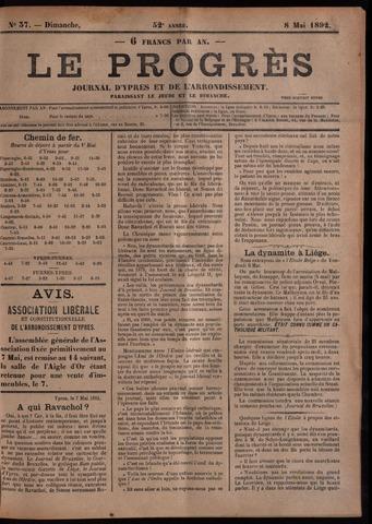 Le Progrès (1841-1914) 1892-05-08