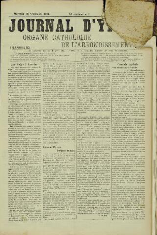 Journal d'Ypres (1874 - 1913) 1906-09-12