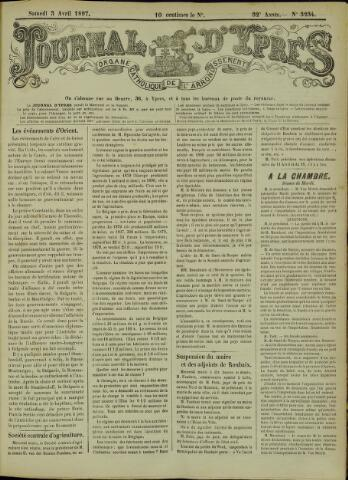 Journal d'Ypres (1874 - 1913) 1897-04-03