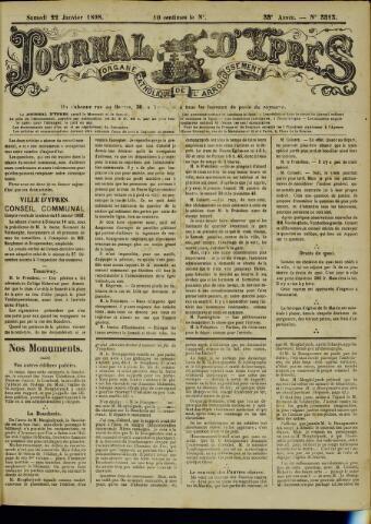 Journal d'Ypres (1874 - 1913) 1898-01-22