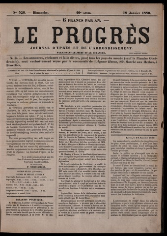 Le Progrès (1841-1914) 1880-01-18