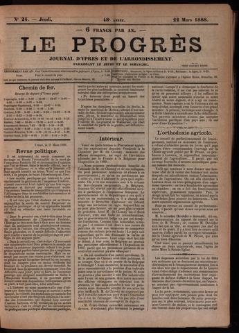 Le Progrès (1841-1914) 1888-03-22