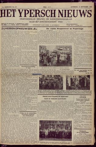 Het Ypersch nieuws (1929-1971) 1960-09-10