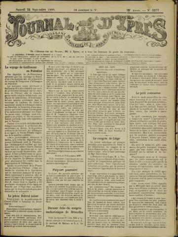 Journal d'Ypres (1874 - 1913) 1898-09-24