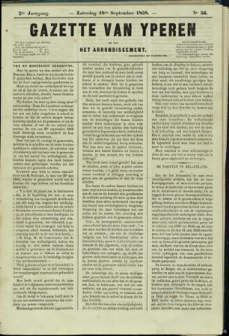 Gazette van Yperen (1857-1862) 1858-09-12