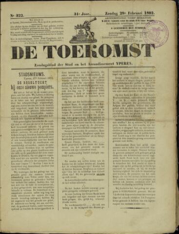 De Toekomst (1862 - 1894) 1892-02-28