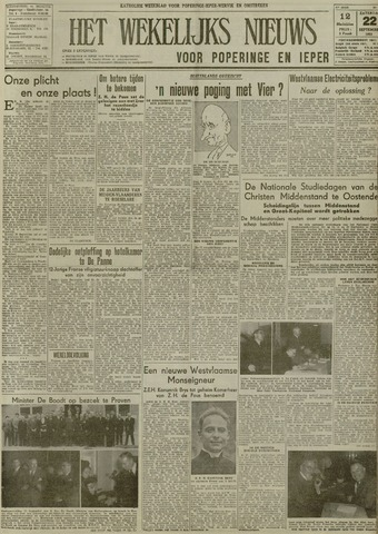 Het Wekelijks Nieuws (1946-1990) 1951-09-22