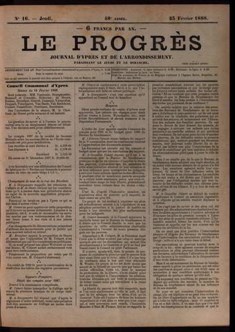 Le Progrès (1841-1914) 1888-02-23
