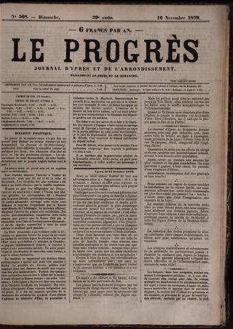 Le Progrès (1841-1914) 1879-11-16