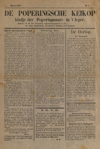 De Poperingsche Keikop (1917-1919) 1917