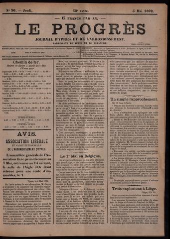 Le Progrès (1841-1914) 1892-05-05