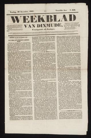 Weekblad van Dixmude 1857-11-29