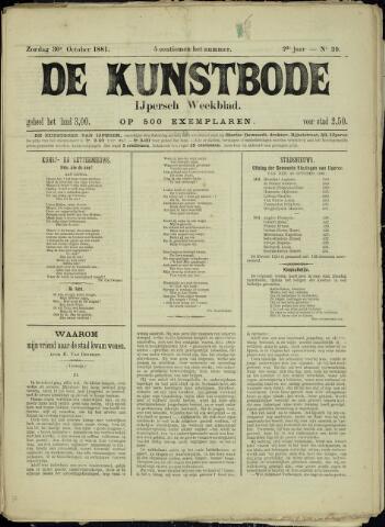 De Kunstbode (1880 - 1883) 1881-10-30