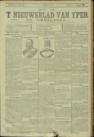 Nieuwsblad van Yperen en van het Arrondissement (1872 - 1912) 1905-04-08