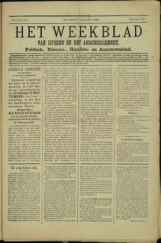 Het weekblad van Ijperen (1886 - 1906) 1894-09-09