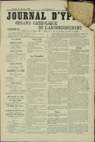 Journal d'Ypres (1874 - 1913) 1906-01-13