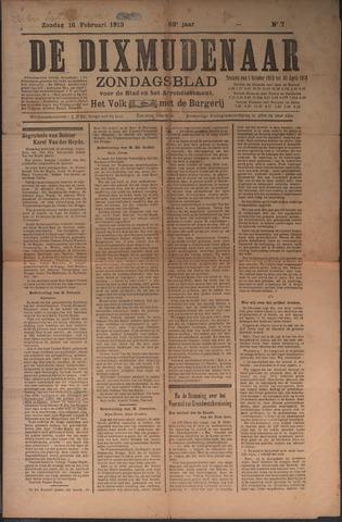 De Dixmudenaar 1913