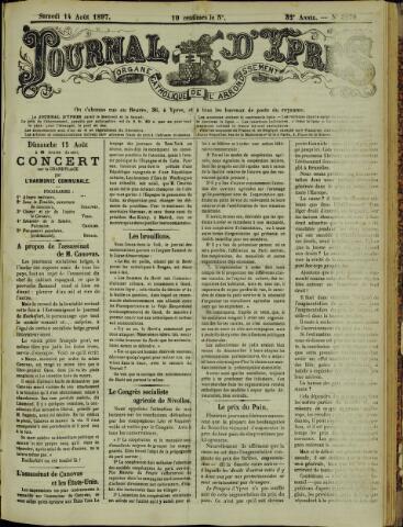 Journal d'Ypres (1874 - 1913) 1897-08-14