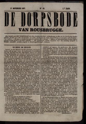 De Dorpsbode van Rousbrugge (1856-1857 en 1860-1862) 1857-11-17