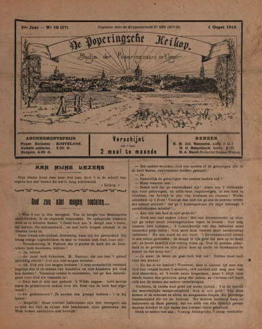 De Poperingsche Keikop (1917-1919) 1918-08-01
