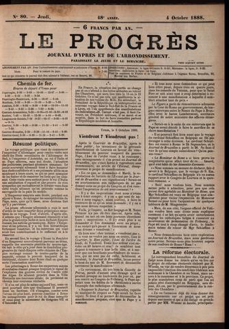 Le Progrès (1841-1914) 1888-10-04