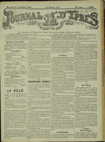 Journal d'Ypres (1874 - 1913) 1895-09-26