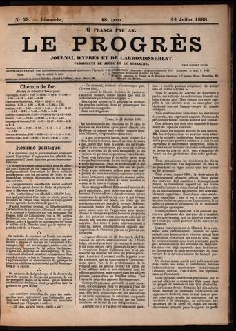 Le Progrès (1841-1914) 1888-07-22